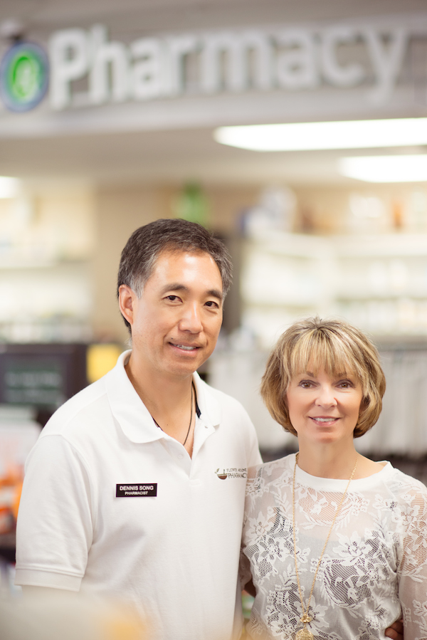 Dennis and Kathy Song, owners of Flower Mound Pharmacy